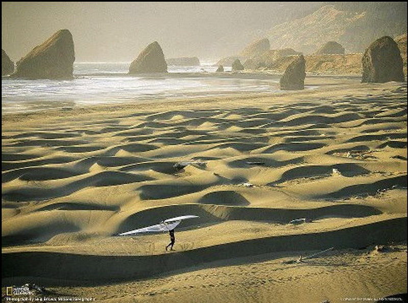 My friend Dana Miller on the South Oregon Coast<br> Photo from National Geographic Magazine