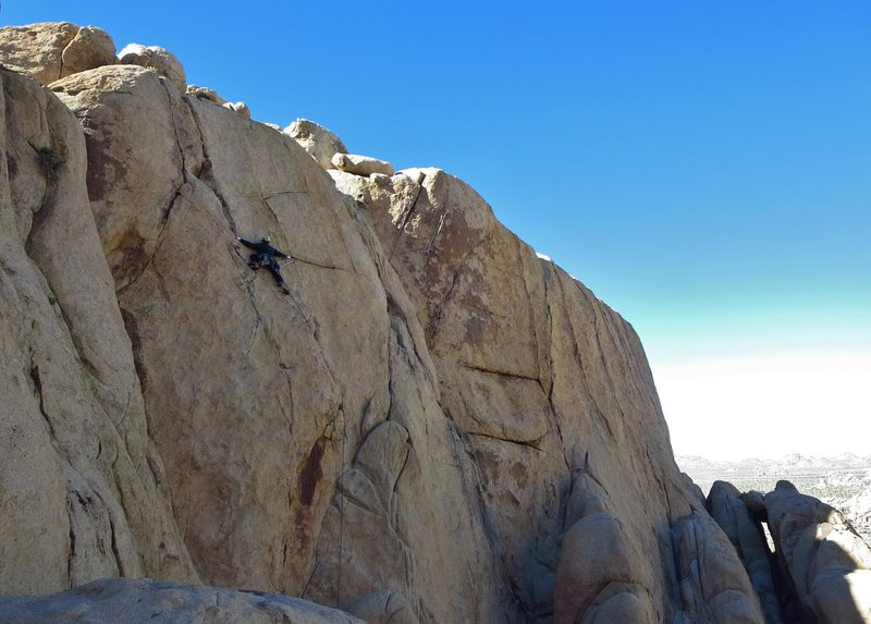 Rock Climbing Photo: Steve on Mr. Michael goes to Washington. Thanksgiv...