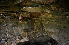 Rock Climbing Photo: Camden chillen on jugs