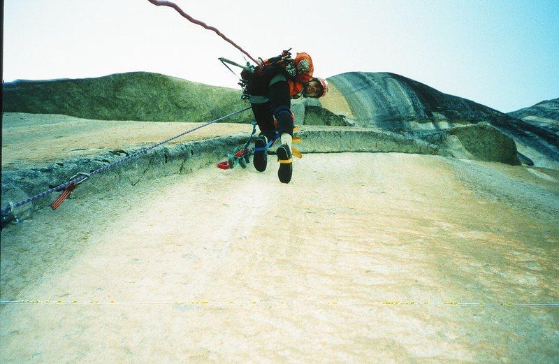 Rock Climbing Photo: Sunkist - high on headwall
