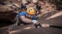 Rock Climbing Photo: Cams above the arm bar moves on Three Pigs in a Sl...