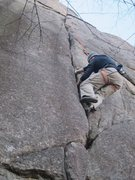 Rock Climbing Photo: Heading up on top rope