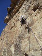Rock Climbing Photo: Starting the crux move