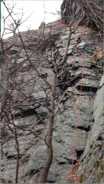 Rock Climbing Photo: The route i took