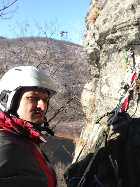 Solo climbing the Rib