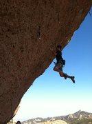 Rock Climbing Photo: Flailing on Skinny White Boy