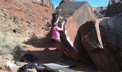 Rock Climbing Photo: HEEL HOOK! CRIMP!