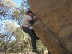 Rock Climbing Photo: On a nice cold day! V1 action!