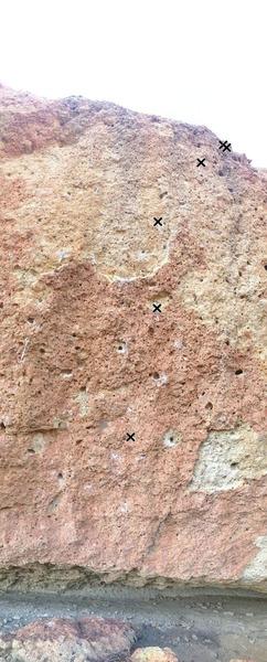 Rock Climbing Photo: 4 Bolts to two shuts.