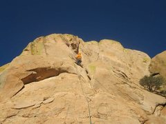 Rock Climbing Photo: Climbing up the fifth pitch The Climb to Tough Too...