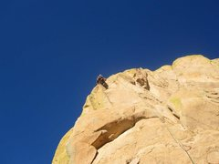 Rock Climbing Photo: This Pitch is an awesome way to finish this route!