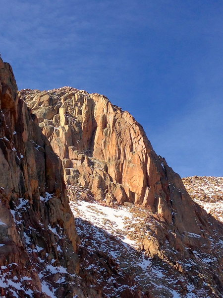 Rock Climbing Photo: The Pink Bastion, in all her glory. There's a migh...