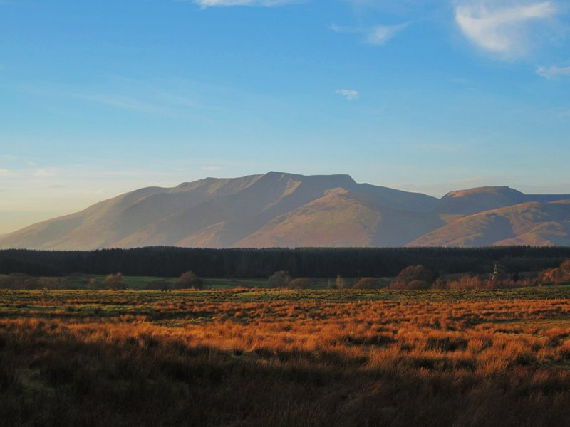 Rock Climbing Photo: Saddleback (Blencathra) Mt about 5 miles from Kesw...