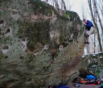 Rock Climbing Photo: Brad finishing the rig