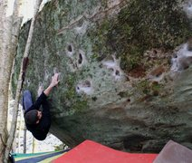 Rock Climbing Photo: Aaron Parlier a couple moves in off of the start a...