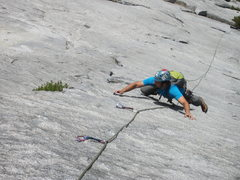 Rock Climbing Photo: Danny on the stellar pitch 5