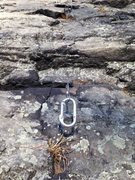 Rock Climbing Photo: Nut and carabiner found on the Rib. Recovered and ...