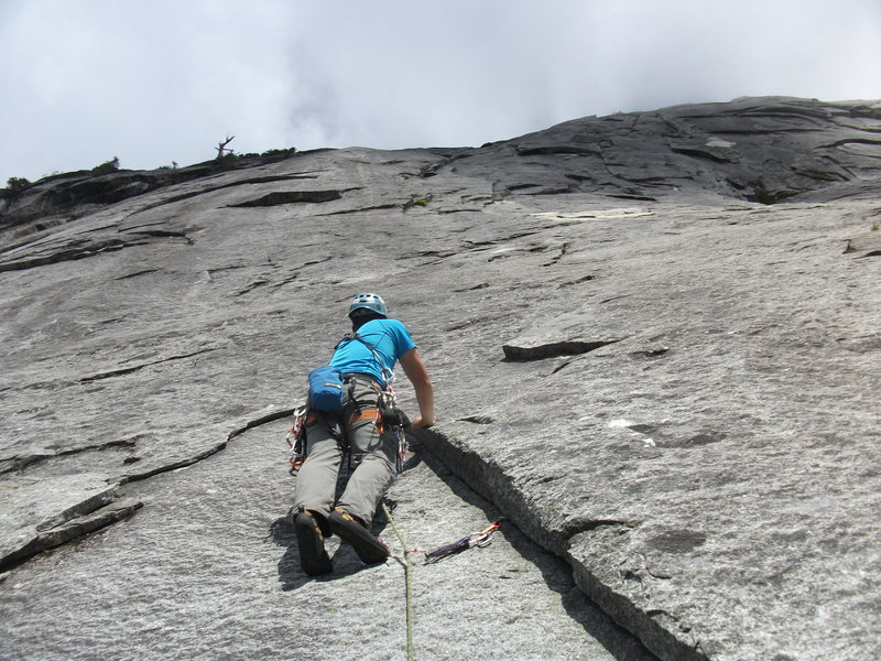 Pitch 2 of The Page (this is not counting the approach pitch and ledge traverse). Link this with the first pitch to save some time