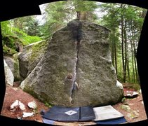 Rock Climbing Photo: Me ghosting up Detached Flake.  Photo Cred to Dave...