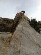 Rock Climbing Photo: Matt Micheal on the lead.