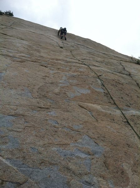 Rock Climbing Photo: At about 80' tall this is a nice slab route for th...