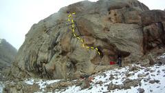 Rock Climbing Photo: Beta for Fire Temple
