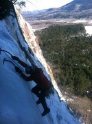 Rock Climbing Photo: Paul topping out Goofers
