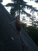 Rock Climbing Photo: Me posing at top of pitch 1
