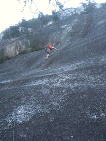 The crux pitch... me leading.