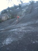 Rock Climbing Photo: The crux pitch... me leading.