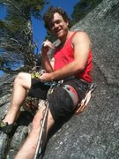 Rock Climbing Photo: Chilling at top of pitch 6