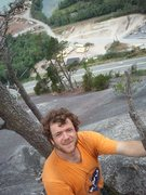 Rock Climbing Photo: Standing at top of pitch 6