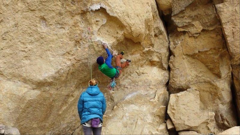 Rock Climbing Photo: Starting heresy