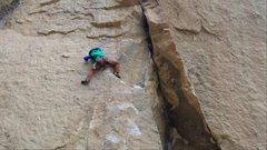 Rock Climbing Photo: Heresy crux