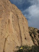Rock Climbing Photo: Driven by Fear is the center crack.  Note all of t...