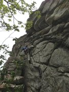Rock Climbing Photo: Nick Layton getting wonkayyy on pre bolted DonoMig...
