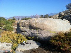 Rock Climbing Photo: Start way right, and top out way left.  A jump sta...