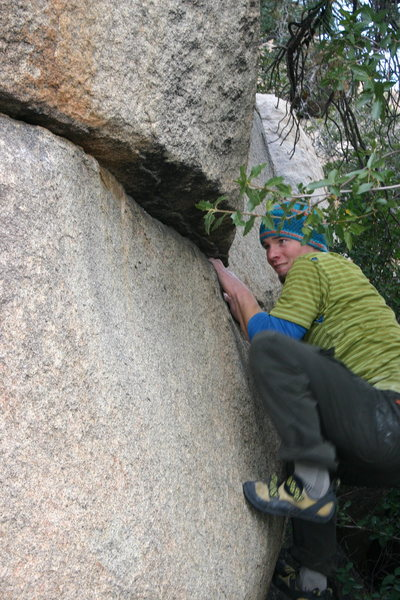 Rock Climbing Photo: Bobby on Impossible Traverse (Photo by Zach King)