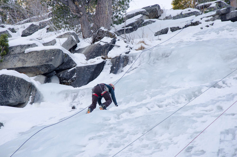 Rock Climbing Photo: free solo locals