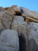 Rock Climbing Photo: Leading the Cosmic Crack Of Some Intrigue.  15 Dec...