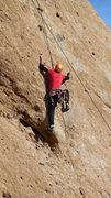 "Rock Climbing Photo: Staring down the crux of ""Aenea."""