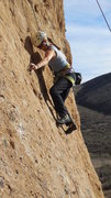 "Rock Climbing Photo: Navigating the slab, low on ""Amarillo By Morn..."