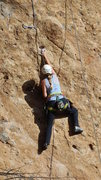 "Rock Climbing Photo: Gunning for the letterbox hold on ""Amarillo B..."