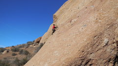 "Rock Climbing Photo: Cruising up ""Hyperion"" on the south face..."