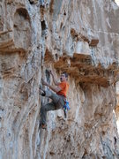Rock Climbing Photo: Jesse Johnston mustaching his way up the tufas