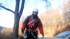 Rock Climbing Photo: Cold weather solo climb at the Gap