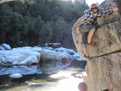 Rock Climbing Photo: Icy escape.
