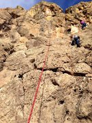 Rock Climbing Photo: First time ever climbing - this was a route on Cat...