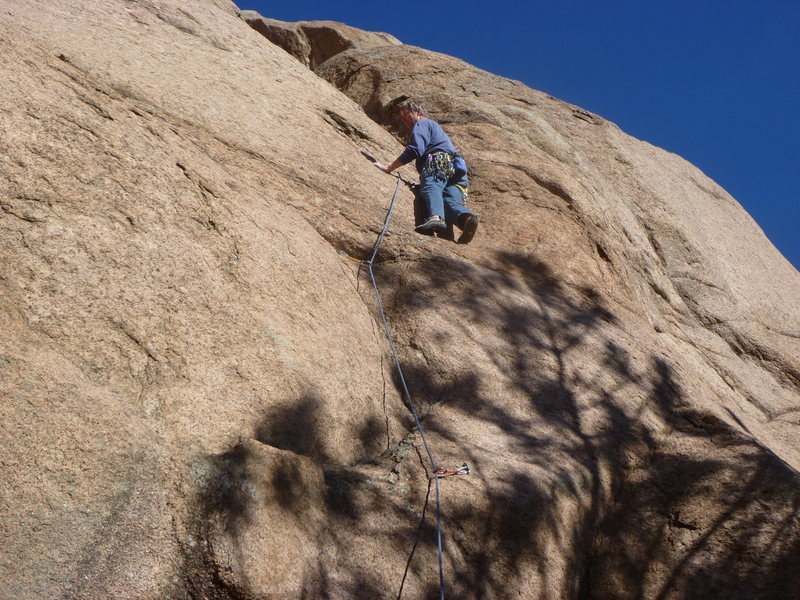 Rock Climbing Photo: First part of the first pitch.