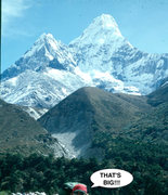 Rock Climbing Photo: Ama Dablam (23,394), Khumbu Region, Himalayas, Nep...